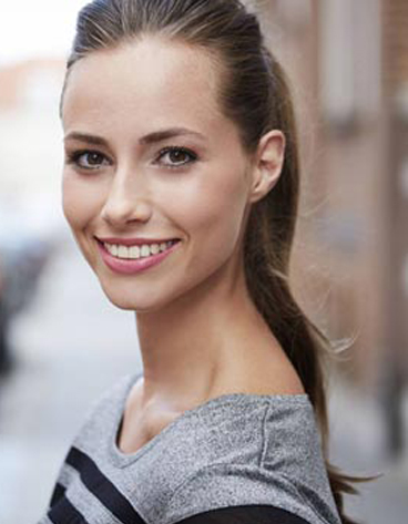 Brunette woman with beautiful smile