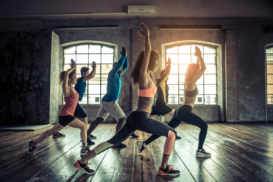People at the gym to improve health