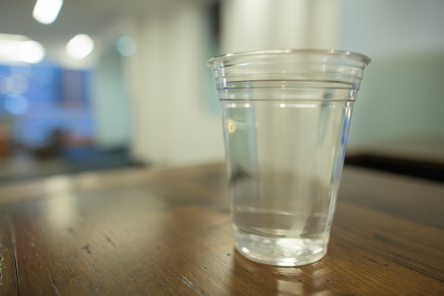 Water in plastic cup - tips to improve your health