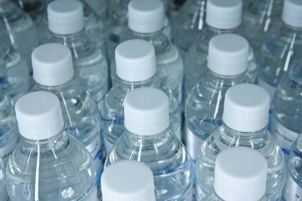 Tops of bottled water